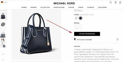 Artikel bei Michael Kors in den Warenkorb legen